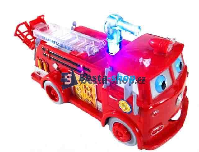 Hasičské auto na baterky + bubliny VELKÉ