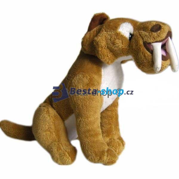 Plyšový šavlozubý tygr Diego z filmu Doba ledová 20 cm