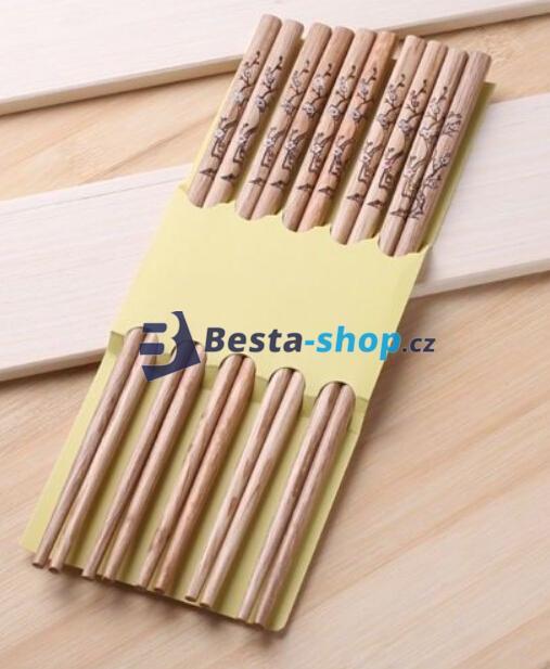 Čínské jídelní hůlky - balení 10 ks