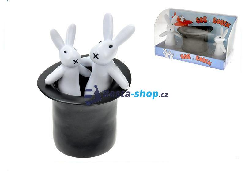Plastové figurky Bob a Bobek králíci z klobouku