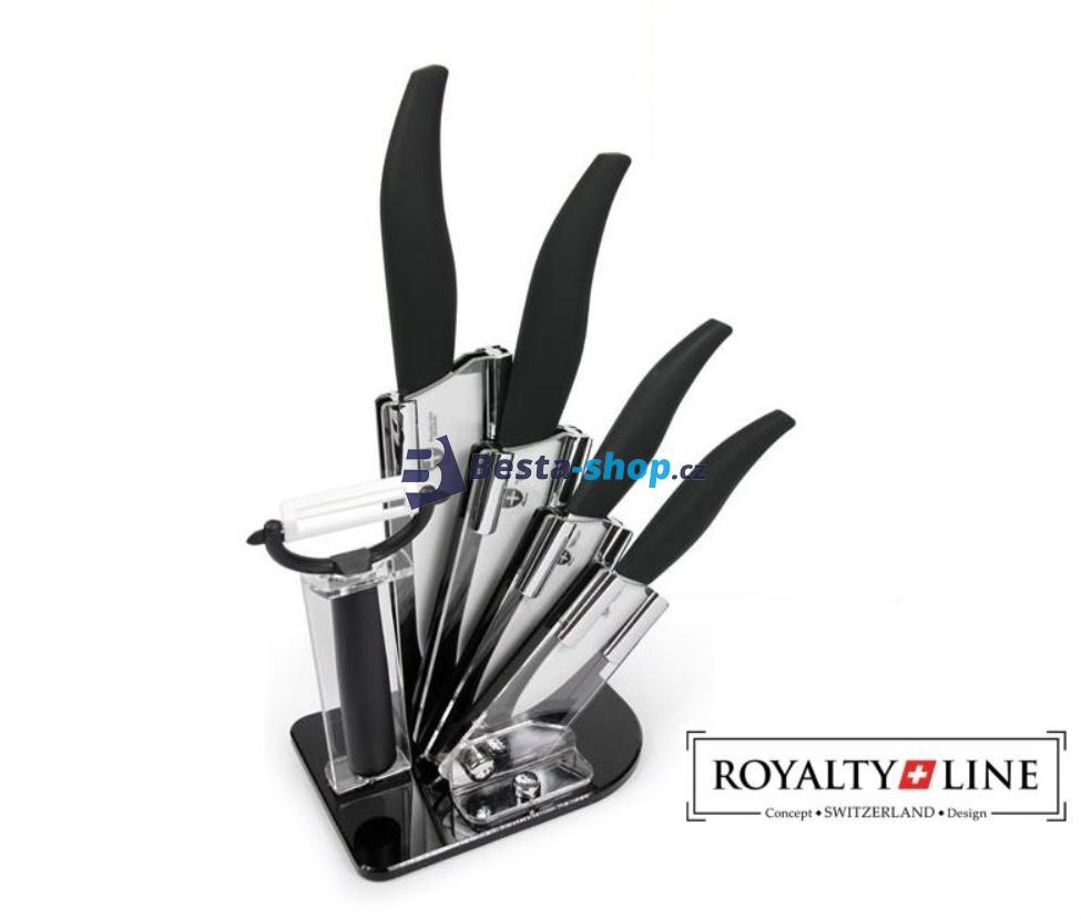 Royalty Line Switzerland 6-dílná sada keramických nožů ve stojanu