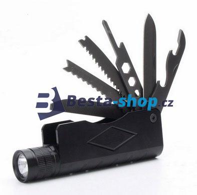 Multifunkční LED baterka 7v1 nabíjecí
