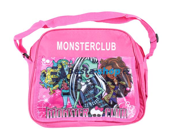 Taška přes rameno - kabelka Monster High Club - tmavě růžová