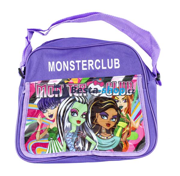 Taška přes rameno - kabelka Monster High Club - fialová