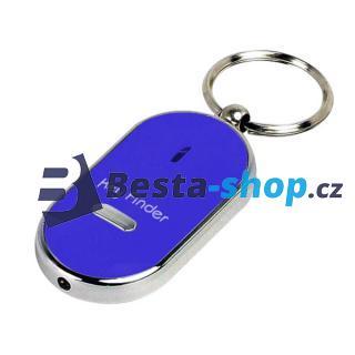 Hledač/detektor klíčů na písknutí pro zapomětlivce, svítící - modrý