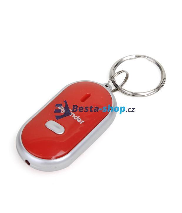 Hledač/detektor klíčů na písknutí pro zapomětlivce, svítící - červený