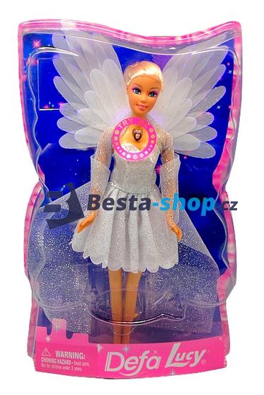 Panenka barbie - Defa Lucy - Anděl se svítícími křídly