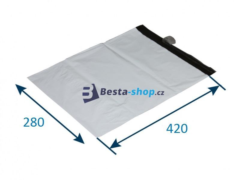 Obálka plastová samolepicí bílá 280x420 - 100ks