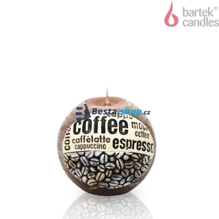 Bartek Candles Svíčka Coffee Time Hnědá 100 mm 450g