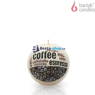 Bartek Candles Svíčka Coffee Time Bílá 100 mm 450g