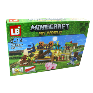 JLB Stavebnice MINECRAFT 3 My world 256 ks s LED kostkou
