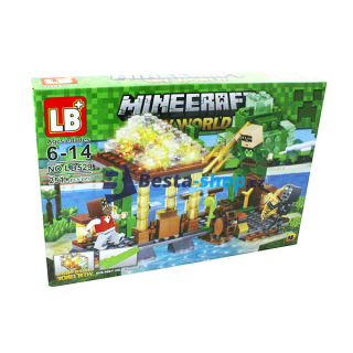 JLB Stavebnice MINECRAFT 4 My world 251 ks s LED kostkou