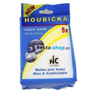 Houbička MAGIC NANO 5ks 10x6x2,7 cm