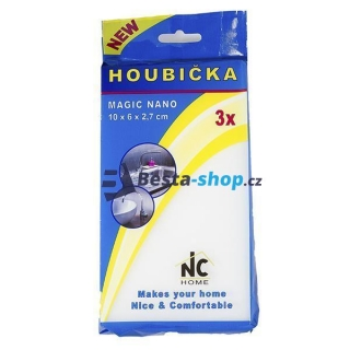Houbička MAGIC NANO 3ks 10x6x2,7 cm