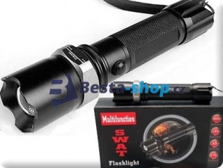 Flashlight SWAT POLICE LED svítilna s kuželem