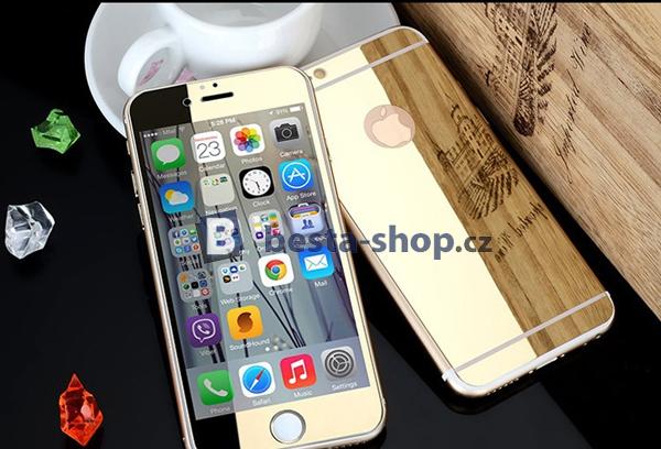 Zrcadlové tvrzené sklo Mirrori (přední + zadní) pro iPhone 6/6s zlaté