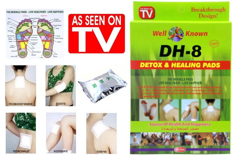 Detoxikační čistící náplasti DH-8 ,8 ks