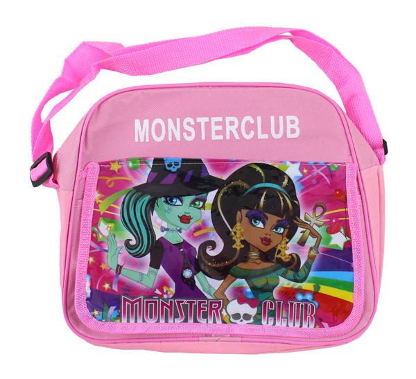 Taška přes rameno - kabelka Monster High Club - světle růžová