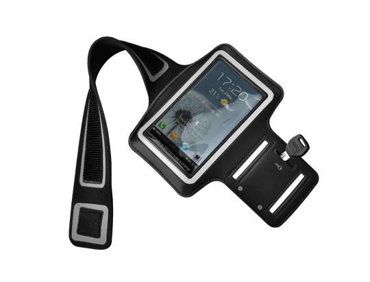 """Sportovní pouzdro na ruku pro mobily iPhone 5/5S - černé 4"""""""