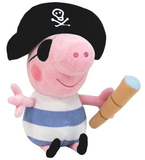 Plyšový George pirát z pohádky Prasátko Peppa 25cm