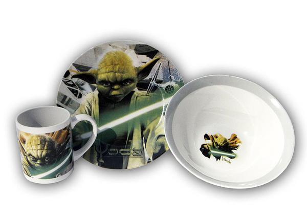 Star Wars Yoda jídelní sada 3 ks