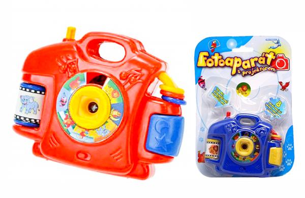 Dětský fotoaparát plastový na baterie projektor 9 x 5,5cm Světlo Zvuk 2 barvy