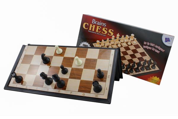 Cestovní šachy magnetické plast Brains Chess 36x36x2,5 cm