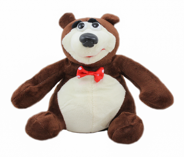 Máša a medvěd - zpívající plyšový medvěd 18cm