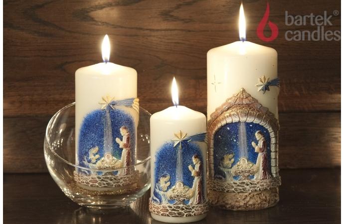 Vánoční svíčka válec Betlém - 90X220