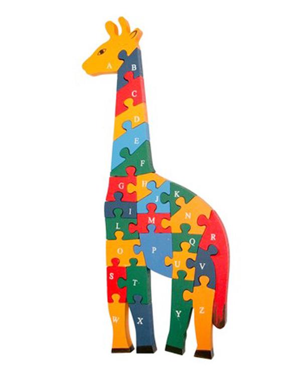 Dřevěné puzzle žirafa 40cm