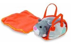 Zhu Zhu Pets taška s přikrývkou - příslušenství ke křečkům - růžovovo-oranžová