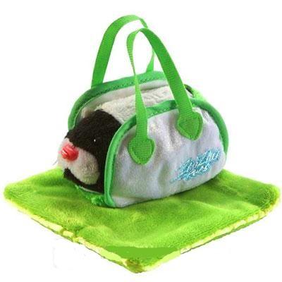 Zhu Zhu Pets Taška s přikrývkou - příslušenství ke křečkům - zelená
