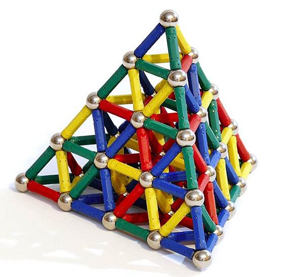 Magnetická stavebnice Magnastix 157 dílů