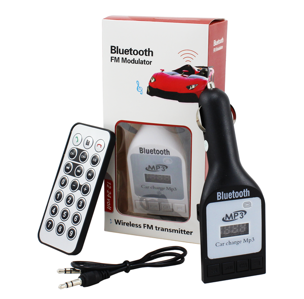 Bluetooth FM Transmitter s dálkovám ovládačem
