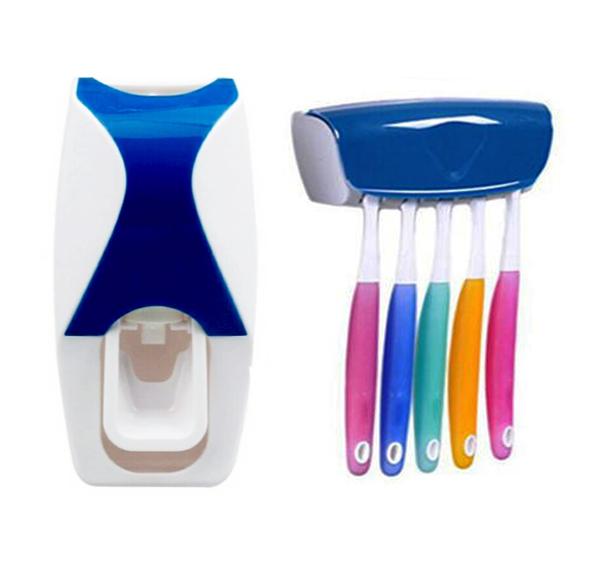 Dávkovač zubní pasty + držák na zubní kartáčky