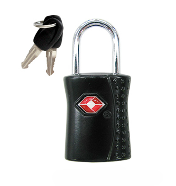Bezpečnostní visací zámek s technologií TSA, černý