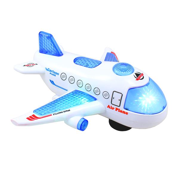 Letadlo / raketoplán jezdí, hraje a svítí