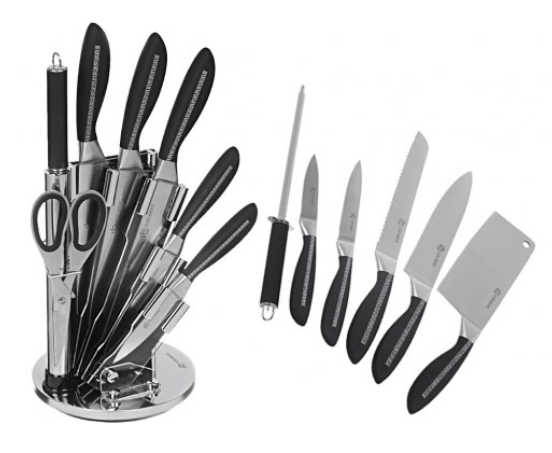 Edenberg sada nožů nerez 8 Ks EB-904, otočný stojan