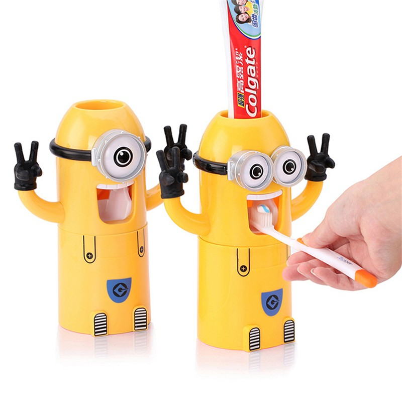 Dávkovač zubní pasty s držákem Mimoni