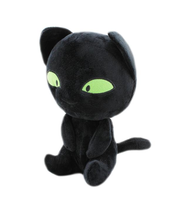Plyšová kočka Plagg Miraculous / Zázračná Beruška a Černý kocour 20 cm