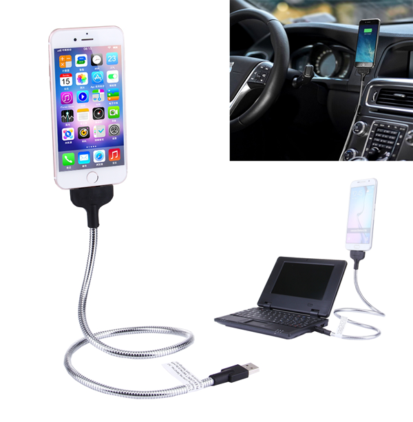 USB Flexibilní kovový nabíjecí kabel s dokovací stanicí