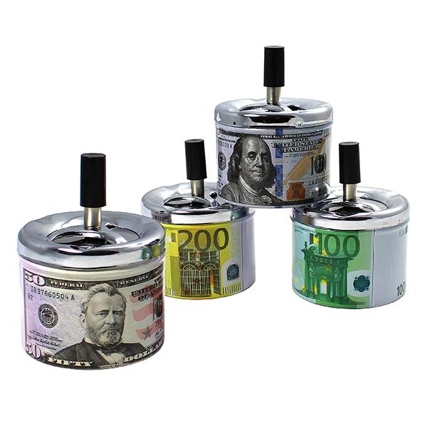 Cigaretový popelník otočný MONEY