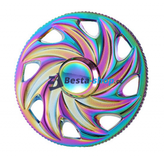 Fidget Spinner - Hand Finger Spin RAINBOW WHEEL